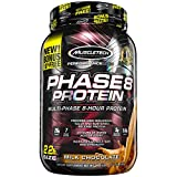 MuscleTech Phase8 Protein Powder, Sustained Release 8-Hour Protein Shake, Milk Chocolate, 2.20 Pounds (998g)