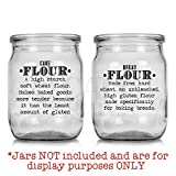 Kitchen Food Organization Clear Gloss Labels (Set of 31, Pantry-Definitions)