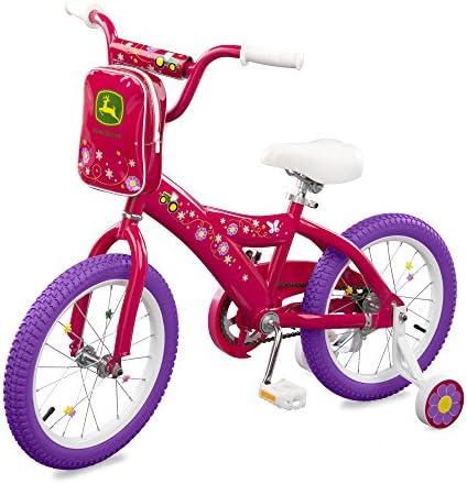 John Deere 16 Girls Bicycle, Dark Pink