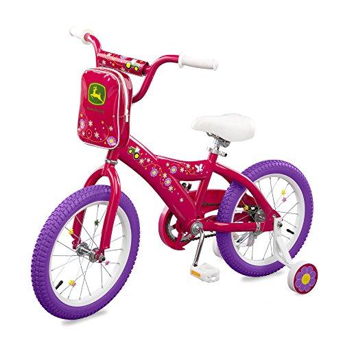 """John Deere 16"""" Girls Bicycle, Dark Pink"""