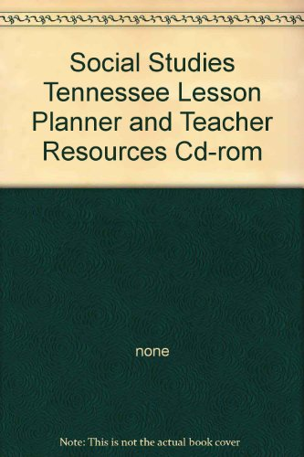 Houghton Mifflin Social Studies Tennessee: Lesson Planner Cd-Rom Package Level 3