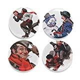 """Buttonsmith Rockwell Winter Magnet Set - Set of 4 1.25"""" Magnets - Made in the USA"""