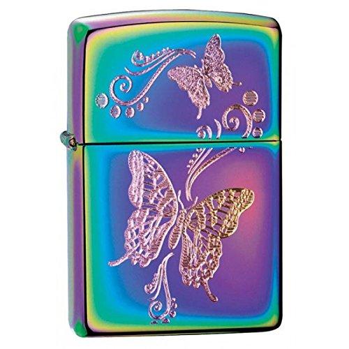 Personalized Engraved Butterflies - Spectrum Zippo LIGHTER - Free Engraving (Personalized Zippo Spectrum Lighter)