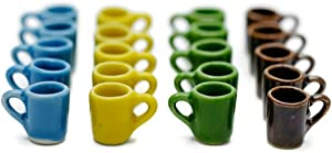 20 Mix Vintage Colorful Coffee Mug Tea Cup Dollhouse Miniatures Food Kitchen by Cool Price