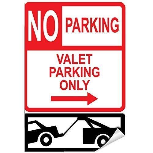HSSS Schild mit Aufschrift No Parking Valet Parking Only Right Arrow, lustiges Geschenk für Frauen, Metall, Aluminium