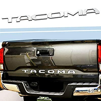 SUPAREE TACOMA 2016-2020 Tailgate Insert Letters - 3D Raised Tailgate Decal Letters - Chrome: Automotive