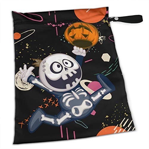YyTiin Reusable Snack and Everything Bags - Halloween Ghosts,Large]()