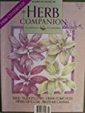 the herb companion vol 6 no 2 dec 1993 jan 1994 herb centerfold sage sleep pillows herbs for colds herbs up close brother cadfael vol 6 no 2