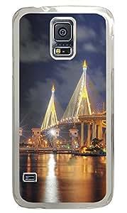 Samsung Galaxy S5 Beautiful Bhumibol Bridge Bangkok City PC Custom Samsung Galaxy S5 Case Cover Transparent