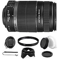 Canon EF-S 55-250mm f/4-5.6 IS II Lens for EOS 7D Mark II, 7D, 80D, 70D, 60D, 50D, 40D, 30D, 20D, Rebel T6s, T6i, T5i, T4i, SL1, T3i, T6, T5, T3, T2i, T1i, XSi, XS, XTi, XT w/ Accessory Bundle