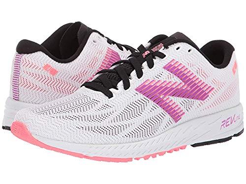 New Balance Women's 1400v6 Walking Shoe, White/Voltage Violet/Guava, 8 B US