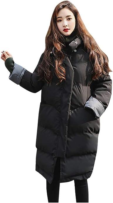 Toamen Abajo Chaqueta con Capucha para Mujer Abrigo Parker Abrigo de Invierno para Mujer Abrigo de algodón de Gran tamaño con Forro Largo: Amazon.es: Ropa y accesorios