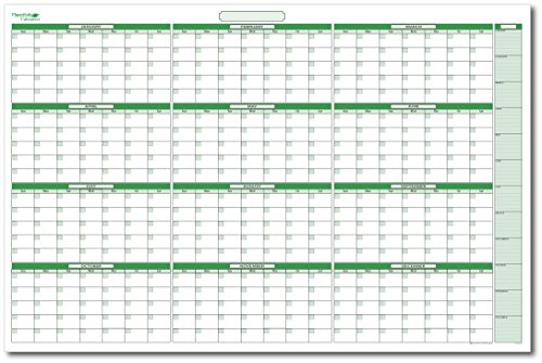 Extra Large Yearly Undated Dry-Erase Calendar 38