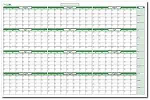 Amazon.com : Extra Large Yearly Undated Dry-Erase Calendar