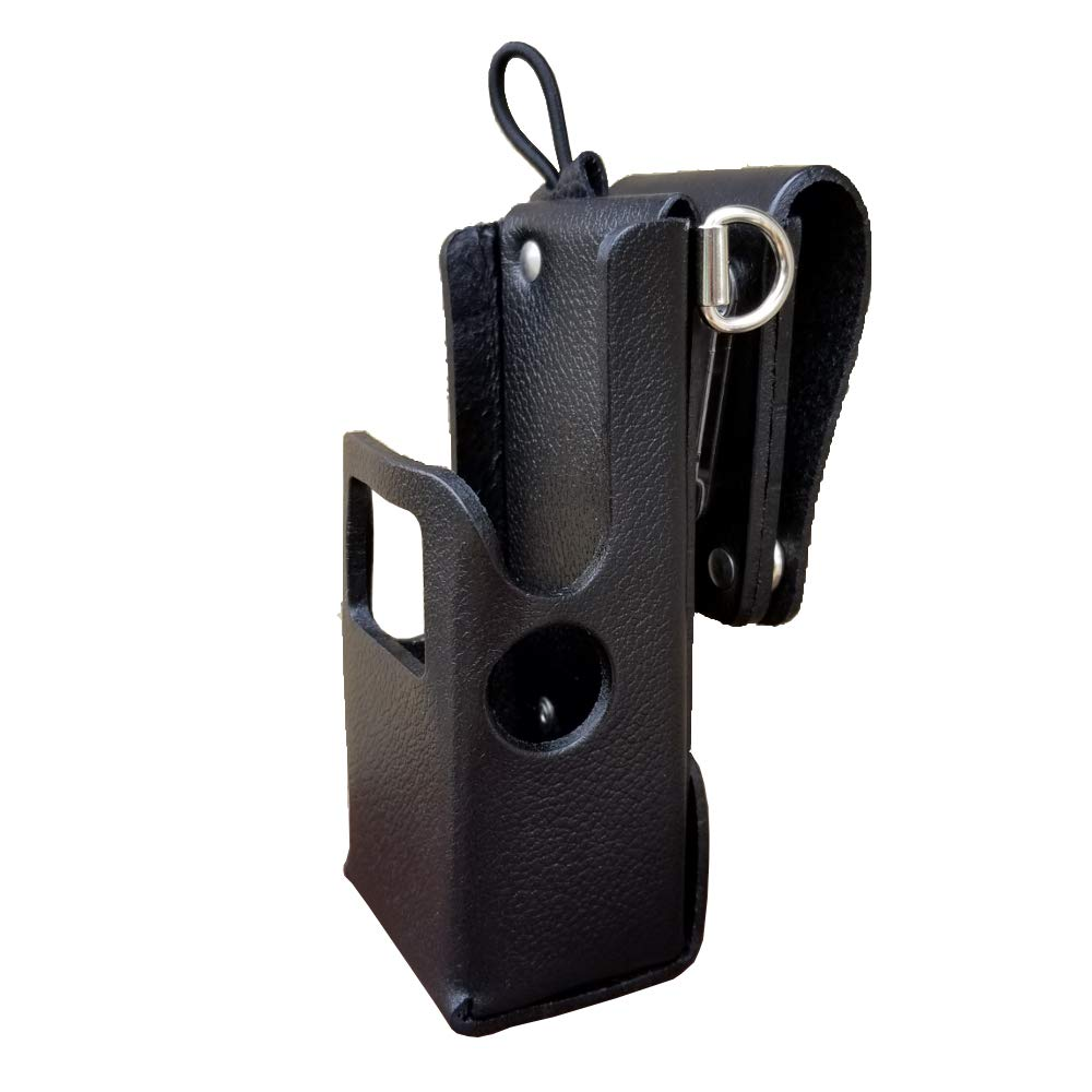 Case Guys MR8607-3AWD Hard Leather Swivel Belt Loop Holster Case with Antenna Loop and Shoulder Strap Rings for Motorola APX 6000 8000 Two Way Radios