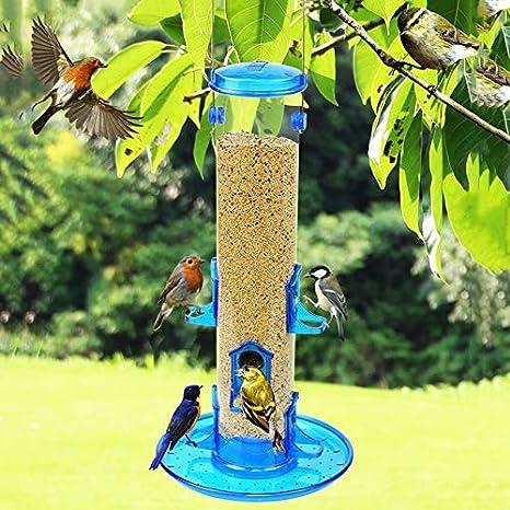 DLH Comedero para Pájaros, Comedero para Pájaros - Comedero para Pájaros De Jardín - Equipo De Alimentación De Pájaros - Suministros para Contenedores De Alimentos para Pájaros: Amazon.es: Deportes y aire libre