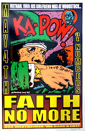 Faith No More Poster 1998 Concert by oddtoes concert posters and music memorabilia