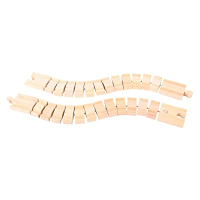 Bigjigs Rail Wooden Crazy Track (Pack of 2) - Other Major Wooden Rail Brands are Compatible: Toys & Games