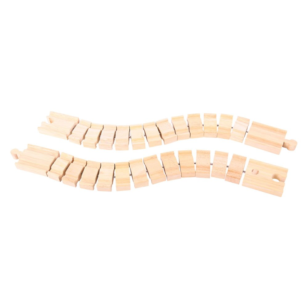Bigjigs Rail Wooden Crazy Track (Pack of 2) - Other Major Wooden Rail Brands are Compatible