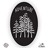 Forest Oval Woods Adventure - Vinyl Sticker Waterproof Decal