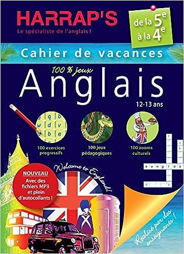 Amazon Fr Harrap S Cahier De Vacances Anglais 5eme
