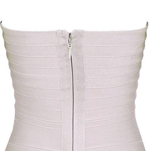 Dress Sexy Strapless Bandage Bodycon Mini Women's Nudo HLBandage q5YHn