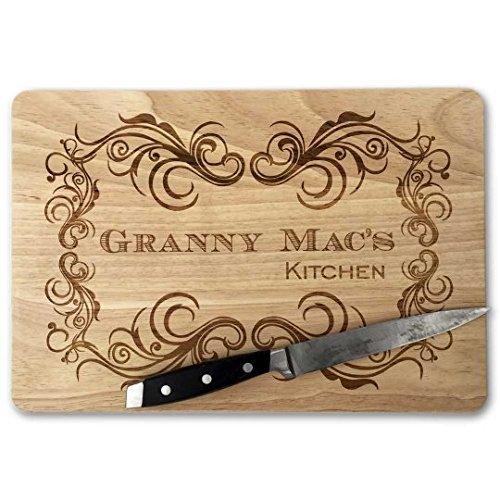 Personalized Grandma cutting board.Granny\'s Kitchen.Grandma gift ...
