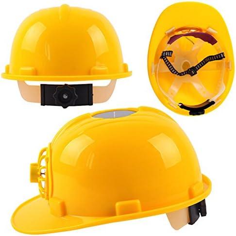 安全ヘルメット ソーラーファン付き ハードハット調整可能 一般作業 建設 電気作業用