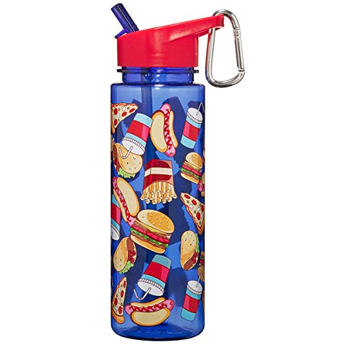 3C4G Foodie Tritan Water Bottle, Burgers and Fries - Hpi Carrying Bag