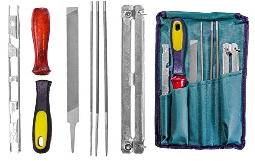 Chainsaw Sharpener File Kit - Includes Flat, 3/16, 7/32, 5/32 Inch Files, (Kit Stihl Chainsaw)