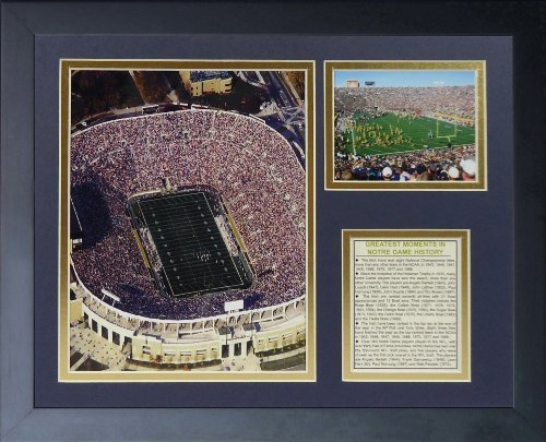 Legenden Sterben Nie Notre Dame Stadium gerahmtes Foto Collage, 11 von 35,6 cm von Legends Never Die