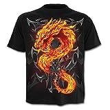 WHLTX Camisetas Y Tanques De Los Hombres Dragón 3D Impresión Digital De Cuello Redondo Moda Hombres Mangas Cortas Ocasionales Color Gráfico 3XL
