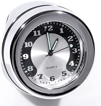 Lenkeruhr 1-1//4 32mm Metall Schwarz Big Motorrad Uhr für Honda Suzuki Motorrad