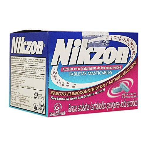 - Nikzon 90 chewable tablets for Hemorrhoids treatment