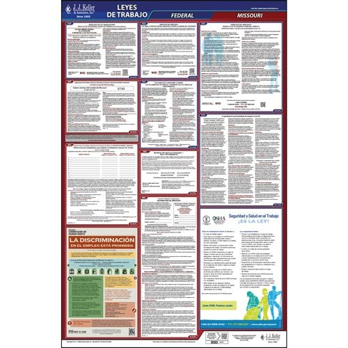 - Missouri & Federal Labor Law Posters - All-In-One State & Federal Poster (Spanish)