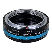 Vizelex ND Throttle Lens Mount Adapter from Fotodiox Pro - Canon FD (FD, FL) Lens to Micro-4/3 Mount Cameras (such as OM-D E-M10, Lumix GH4, and Black Magic Pocket) - with Built-In Variable ND Filter (ND2-ND1000)