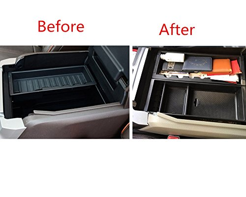 Interior Car Center Console Drawer Storage Box,Insert Armrest Organizer Tray Interior Holder Container for Ford F150 2015 2016 2017 2018 2019