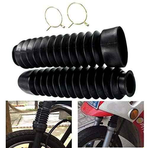Motorcycle Front Fork Black Rubber Boots Dust Jacket