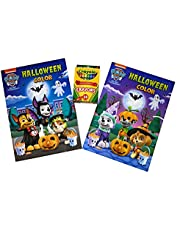 Paw Patrol Halloween Coloring Books with Activities + 24 Crayola Crayons - 192 pages of Halloween activities (96 pages in each book) Great Gift for Kids Toddler Boys Girls Ages 2, 3, 4, 5, 6, Holiday Gifting, Travel, Arts and Crafts, Gifting