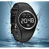 Calorie Counter, IP68 Swim Watch Waterproof Activity Tracker with Pedometer Step Counter /Accurately Track Steps/Distance/Calorie/Clock/Timer for Walking Running Kids Men Women(Non-Bluetooth Need)