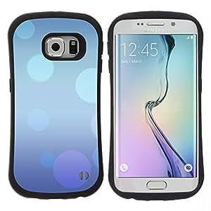 """Hypernova Slim Fit Dual Barniz Protector Caso Case Funda Para Samsung Galaxy S6 EDGE [Extracto púrpura azul Burbujas en colores pastel""""]"""