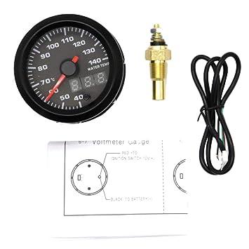 "Homyl 2"" Medidor de Temperatura de Agua para Autos con Sensor LED Digital Mesa"