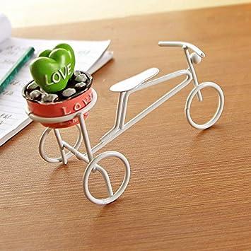Auf At Von Beruf Des Metall Dekoration Haus Mini Fahrrad Eisen Weiß