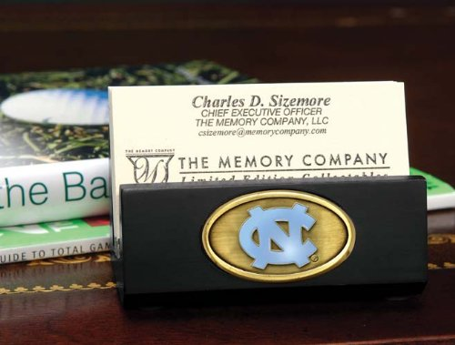The Memory Company NCAA University of North Carolina Official Black Business Card Holder, Multicolor, One ()