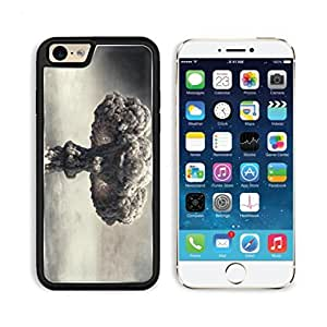 Explosion Clown Gray Mushroom Cloud Apple iPhone 6 TPU Snap Cover Premium Aluminium Design Back Plate Case Customized Made to Order Support Ready Luxlady iPhone_6 Professional Case Touch Accessories Graphic Covers Designed Model Sleeve HD Template Wallpaper Photo Jacket Wifi Luxury Protector Wireless Cellphone Cell Phone