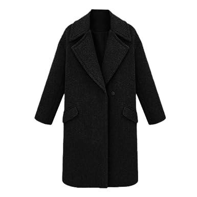 Amazon.com: Kulywon - Chaqueta de lana para mujer de ...