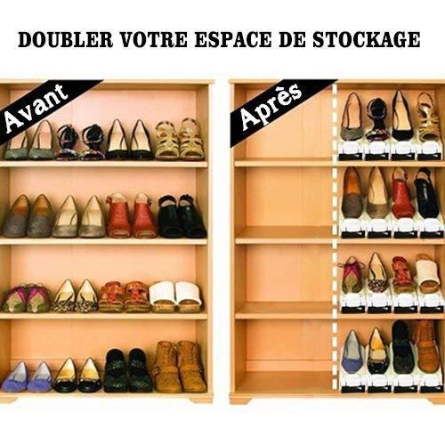 Range Chaussures Reglable Rangement Chaussures Gain De Place En