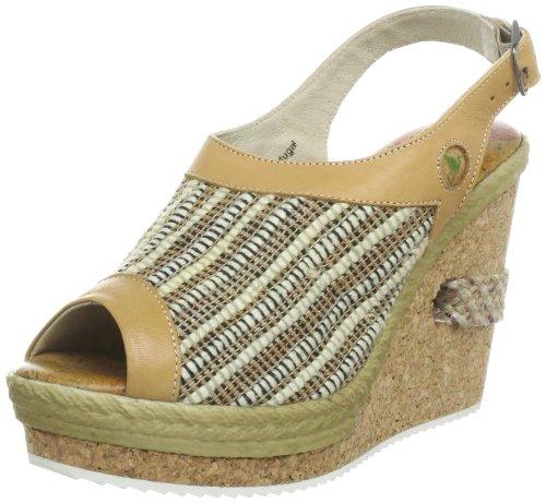 Stork Steps Bardot A1 - Sandalias de cuero para mujer Beige (Beige (Beige))