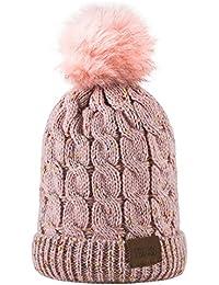 Kids Winter Warm Fleece Lined Hat, Baby Toddler...