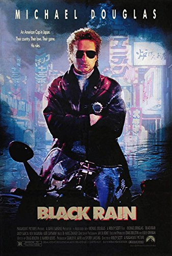 BLACK RAIN MOVIE POSTER 1 Sided ORIGINAL 27x40 MICHAEL DOUGL